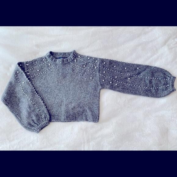 Zara pearl detailed sweater